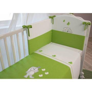 Комплект постельного белья Polini Зайки (3 предмета, хлопок)