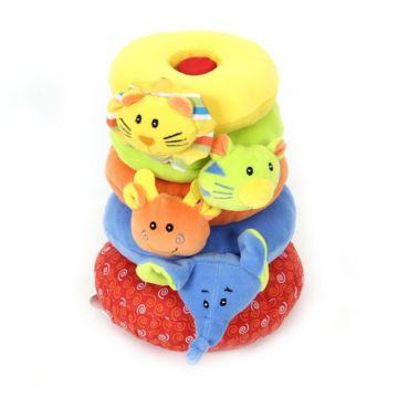 Развивающая игрушка I-Baby пирамидка Друзья из джунглей