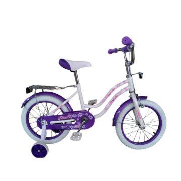"""Детский велосипед Farfello Bell YF-011 16"""" (Бело-фиолетовый)"""