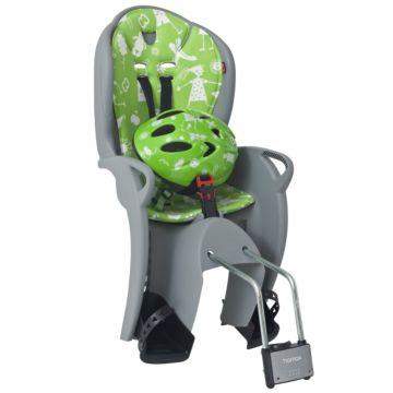 Велокресло на подседельную трубу Hamax Kiss Safety Package до 22 кг (Серый/Зеленый)