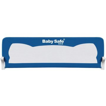 Барьер безопасности для кроватки Baby Safe Ушки 120х42см (Синий)