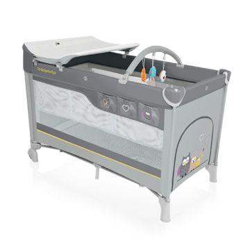 Манеж-кровать Baby Design Dream (серый)