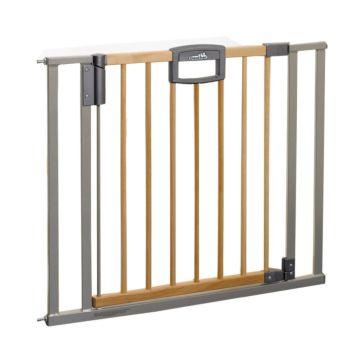 Ворота безопасности Geuther EasyLock Wood 80.5-88.5 см (серебро)