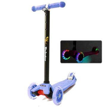 Самокат Hubster Maxi Flash со светящимися колесами (синий)