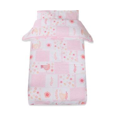 Комплект постельного белья Baby Care Птички (3 предмета, хлопок) (Светло-розовый)