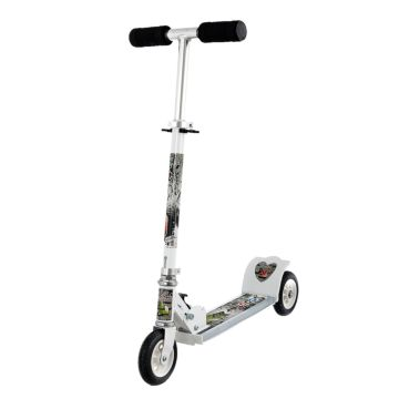 Самокат MaxCity Junior (white) со светящейся платформой