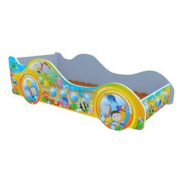 Кровать-машина Кроватка5 Машинки (Субмарина рыбки)
