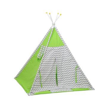 Детская палатка Polini Вигвам Зигзаг (Зелёный)