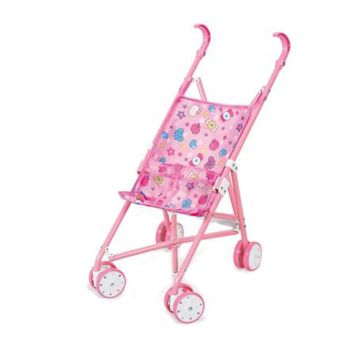 Коляска для куклы Fei Li Toys трость (розовая) FL6066-C
