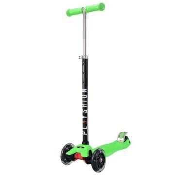 Самокат Playshion Maxi Kids FS-MS002L со светящимися колёсами (Зеленый)