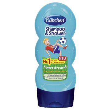 Шампунь для мытья волос и тела Bubchen Юный спортсмен 230 мл
