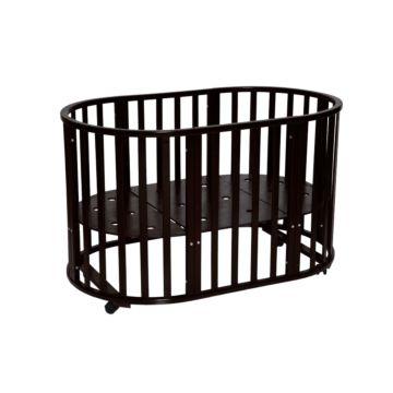 Кроватка-трансформер Антел Северянка 3.1 6 в 1 (колесо) шоколад