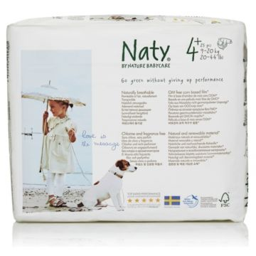 Подгузники Naty 4+ (9-20 кг) 25 шт