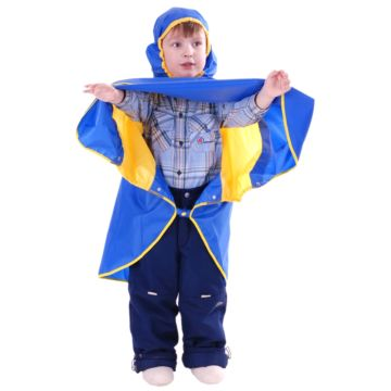 Дождевик детский Чудо-Чадо Светлячок (р.134-140) (Синий-желтый)