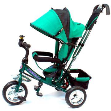 """Трехколесный велосипед Formula Trike F-3000 c ПВХ-колесами 10"""" и 8"""" (зеленый)"""