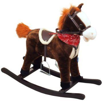 Лошадка-качалка BabyMix Oscar с платком (рыжая)