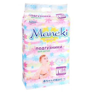 Подгузники Maneki Fantasy L (9-14 кг) 54 шт