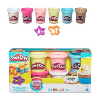 Игровой набор Play-Doh из 6 баночек с конфетти