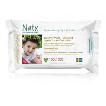 Влажные салфетки Naty без запаха 56 шт