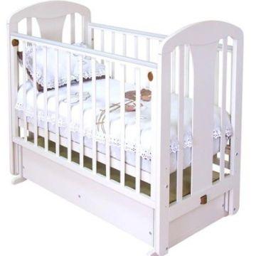 Кроватка детская Можга Виталина (поперечный маятник) (белый)
