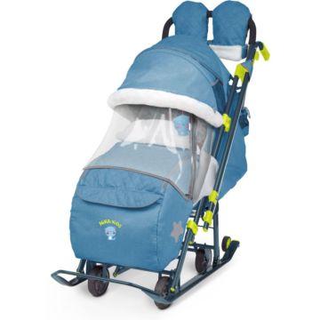 Санки-коляска Ника Детям 7-3 (синий)