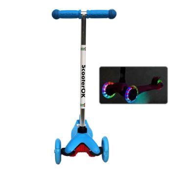 Самокат Babyhit ScooterOK со светящимися колесами (голубой)