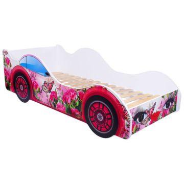 Кровать-машина Кроватка5 Машинки (Бабочка в розах)