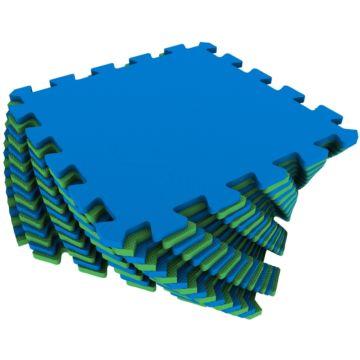 Мягкий пол Экополимеры 25*25 (сине-зеленый)