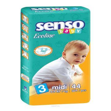 Подгузники Senso Baby Ecoline Midi (4-9 кг) 44 шт