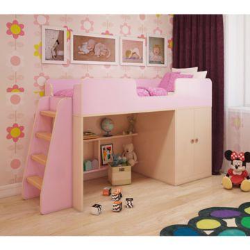 Игровая кровать Мебель Мечты (розовая)