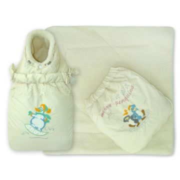 Конверт-трансформер зимний Little People Кокон (молочный)