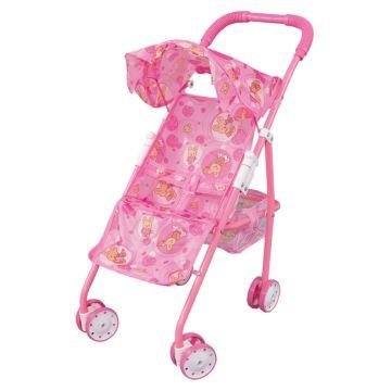 Коляска для куклы Fei Li Toys трость (розовая) FL6075