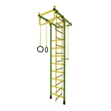 Детский спортивный комплекс Лидер Т-02 М (зелено-желтый)