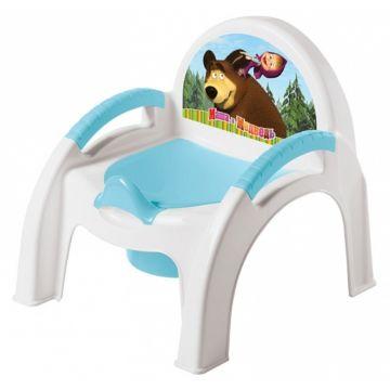 Горшок-стульчик Бытпласт Маша и Медведь (Голубой)