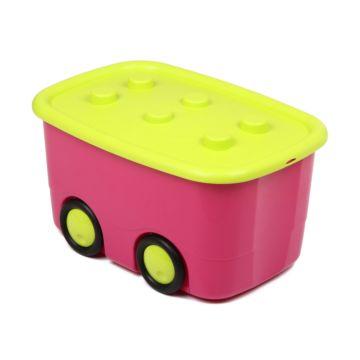 Корзина для игрушек IDEA (М-Пластика) Моби (Малиновый)