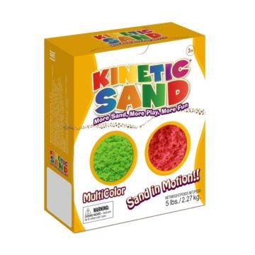 Кинетический песок Kinetic Sand 2.27 кг (зеленый и красный)