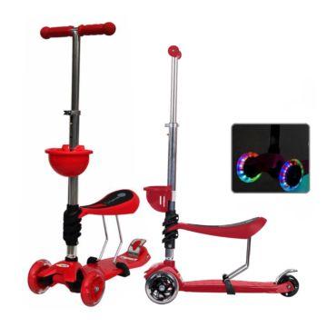 Самокат Babyhit ScooterOK Tolocar с сиденьем и светящимися колесами (красный)