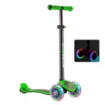 Самокат Globber Primo Plus Titanium с 3-мя светящимися колесами (neon green)