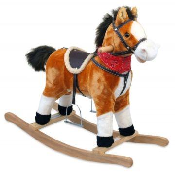 Лошадка-качалка BabyMix Oscar (рыжая)