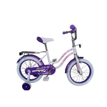 """Детский велосипед Farfello Bell YF-011 14"""" (Бело-фиолетовый)"""