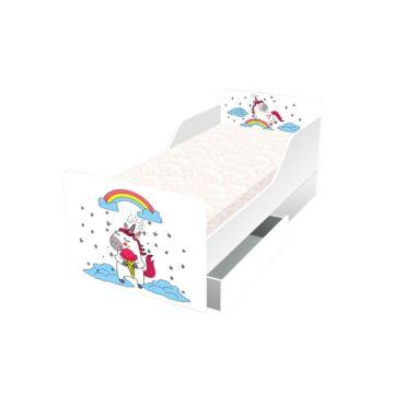 Кровать с ящиками Кроватка5 Классика (Мечтающий единорог)