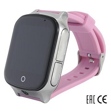Детские часы с GPS-трекером SmartBabyWatch T100 (розовые)