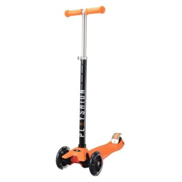 Самокат Playshion Maxi Kids FS-MS002L со светящимися колёсами (Оранжевый)