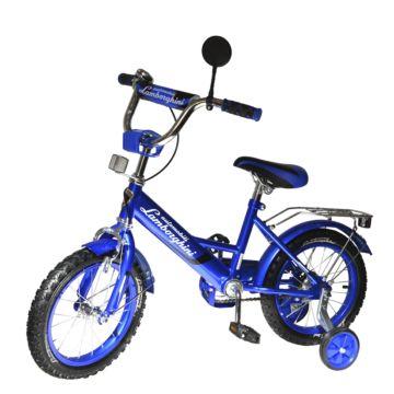 "Детский велосипед Lamborghini 14"" (синий)"