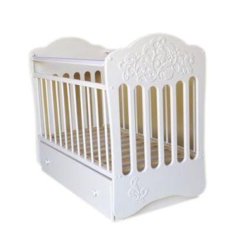 Кроватка детская Островок Уюта Виола (поперечный маятник) (белый)