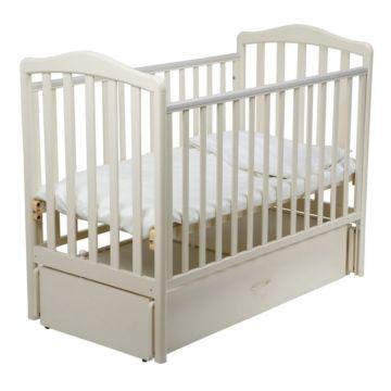 Кроватка детская Papaloni Винни (продольный маятник) (Слоновая кость)