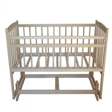 Кроватка детская Массив Беби 4 (поперечный маятник) (светлый)