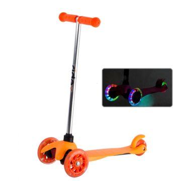 Самокат Ridex 3D Kinder со светящимися колесами (Оранжевый)
