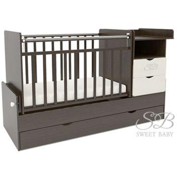 Кроватка-трансформер Sweet Baby Valentino Wenge Bianco