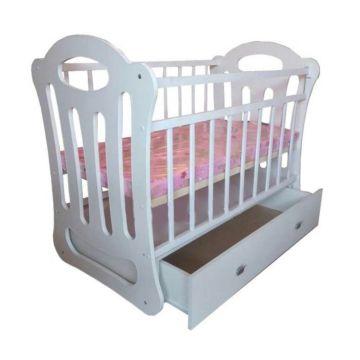 Кроватка детская ВДК Belinda (поперечный маятник) (белый)
